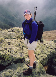 Me and my pack on Mount Monroe, N.H., 2003