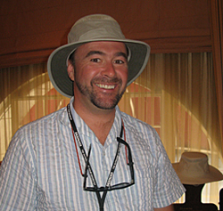 David Kappele of Tilley models an Eco-Airflo hat. Kappele has a knack for  accurately guessing hat sizes 2ceb54d1e17