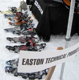 Easton Snowshoes on display