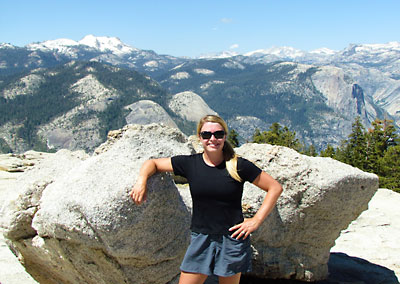 On the summit of Sentinel Dome, Yosemite National Park.