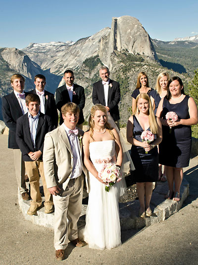 Wedding party at Glacier Point in Yosemite National Park. Photo credit: Jovan Rodriguez.