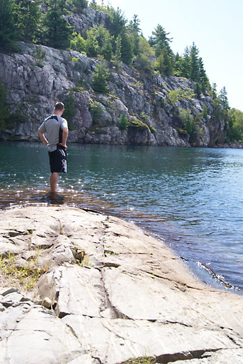 Jake at Killarney Provincial Park, Ont.
