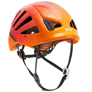 photo of a climbing helmet