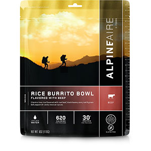 AlpineAire Foods Rice Burrito Bowl Flavored with Beef