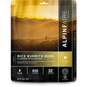 AlpineAire Foods Rice Burrito Bowl Flavored with Chicken