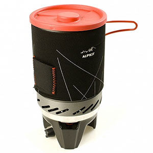 photo of a Alpkit compressed fuel canister stove