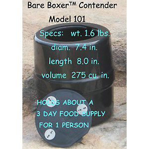 photo: Bare Boxer Contender bear canister