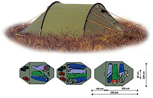 photo: Bergans Fjellbu Dermizax 3-4 four-season tent