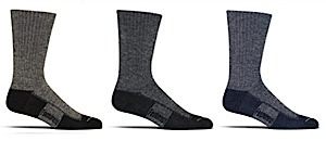 Feetures! Bamboo and Wool Light Cushion Crew Sock