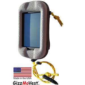 photo of a GizzMoVest waterproof hard case