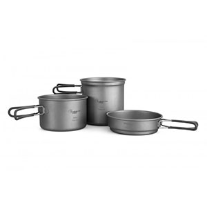 HealthPro 3-Piece Titanium Cookware Set