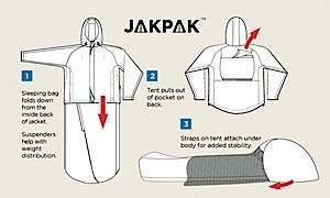 photo of a JakPak bivy sack