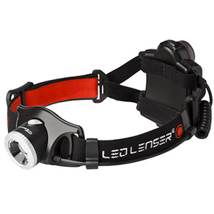 photo of a LED Lenser headlamp