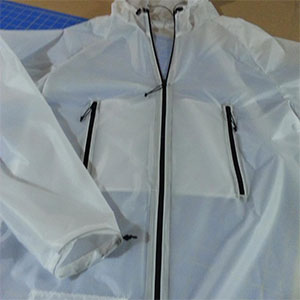 photo of a Luke's Ultralite waterproof jacket