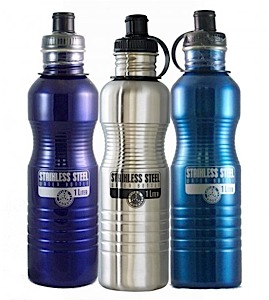 photo: New Wave Enviro Stainless Steel Bottle 1L