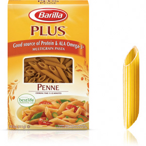photo:   Barilla PLUS Penne Pasta vegetarian entrée