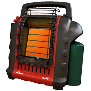 photo:   Mr. Heater Buddy Heater hiking/camping product