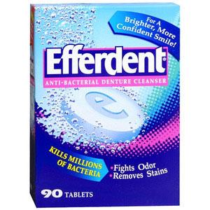 photo:   Efferdent Cleanser equipment cleaner/treatment