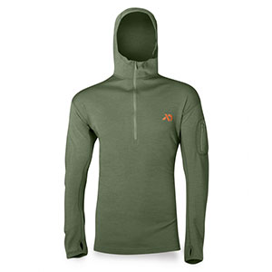 photo:   First Lite Chama Hoody base layer top