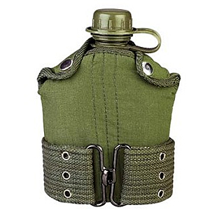 photo:   Military Canteen and Pistol Belt Kit water bottle
