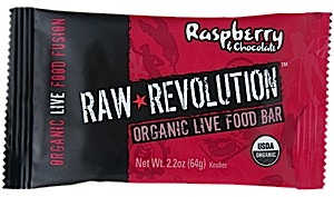 photo: Raw Indulgence Raw Revolution Organic Raspberry & Chocolate Bar bar