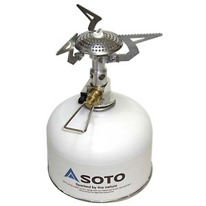 photo: Soto Micro Regulator Stove compressed fuel canister stove