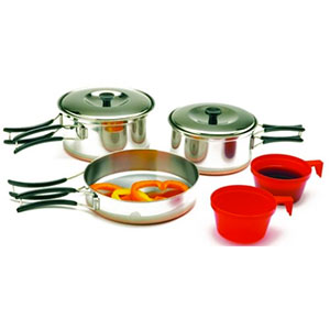 photo: Texsport Stainless Steel 2-Person Cook Set pot/pan