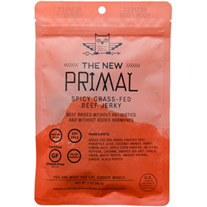 The New Primal Spicy 100% Grass-Fed Beef Jerky