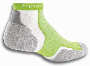 Thorlo Experia Merino Wool/Silk - Thin Cushion Micro Mini-Crew