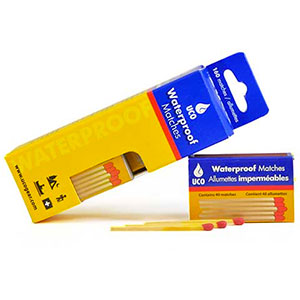 photo: UCO Waterproof Matches fire starter