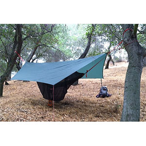 photo: Wilderness Logics Tad Pole tarp/shelter
