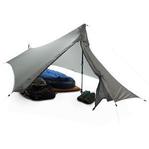 photo of a YAMA Mountain Gear tarp/shelter