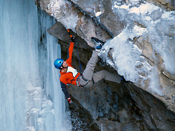Mixed Comp Climber at Ouray ice Fest