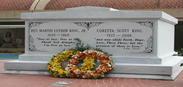 Martin Luther King tomb