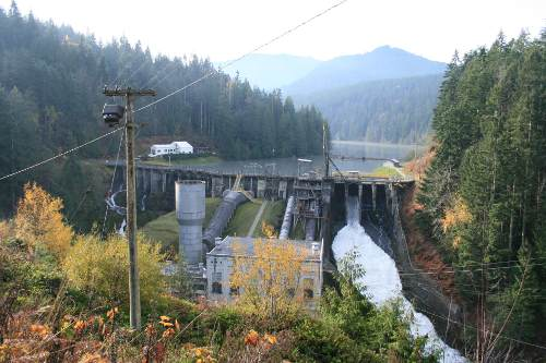 Elwha Dam, before breaching.